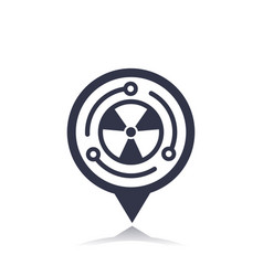 Nuclear energy icon on pointer vector