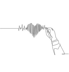 one continuous line drawing hand drawing human vector image