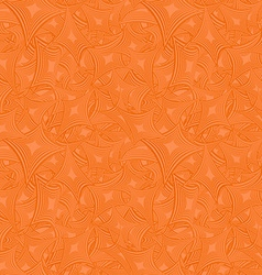 Orange abstract seamless pattern background vector