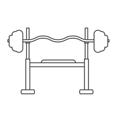 Outline brench press exercise gym design vector
