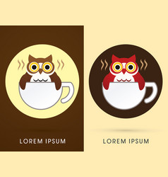 Owl cafe vector
