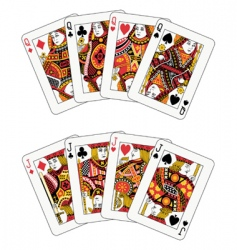 Poker jack and queen vector