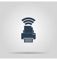 Printer with wi-fi connection vector