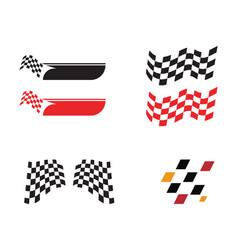 race flag icon simple design race flag logo vector image