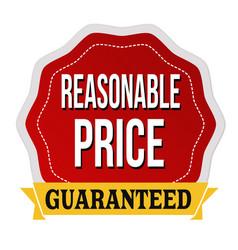 Reasonable price guaranteed label or sticker vector