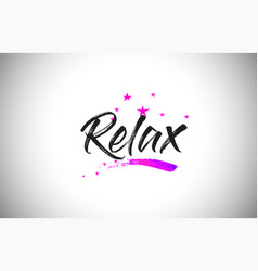 Relax handwritten word font with vibrant violet vector