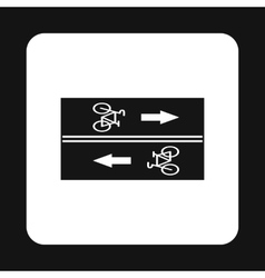 Road for cyclists icon simple style vector image