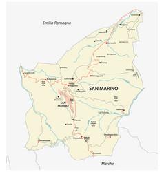 Road map republic san marino vector