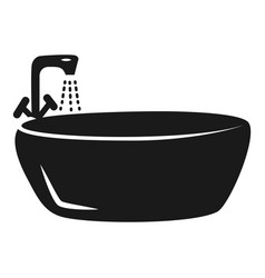round bath icon simple style vector image
