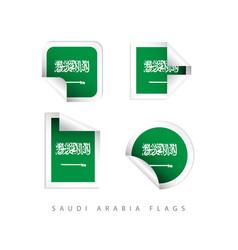 saudi arabia label flags template design vector image