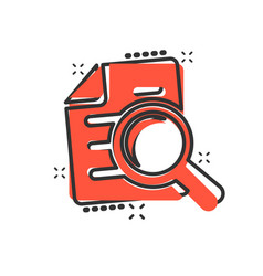scrutiny document plan icon in comic style review vector image