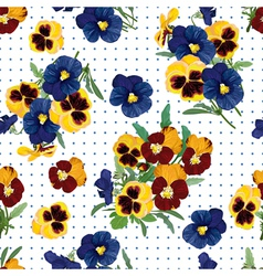 Seamless pattern bouquet of forget me nots vector