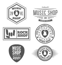 Set vintage logo badge emblem or logotype vector