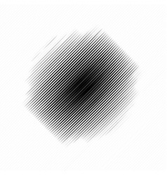 Simple diagonal lines with circle deformation vector