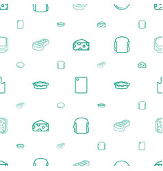 slice icons pattern seamless white background vector image
