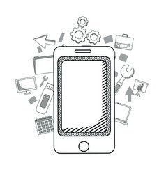 smartphone and business vector image