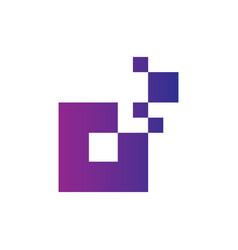 square technology logo image vector image