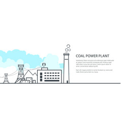 station with the power line banner vector image