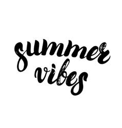 Summer vibes hand written lettering vector