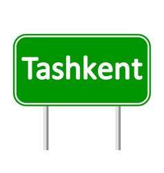 Tashkent road sign vector