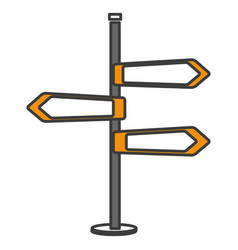 traffic signal arrows icon vector image