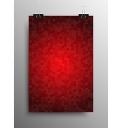 Vertical Poster Tile Honey Comb Red Background vector