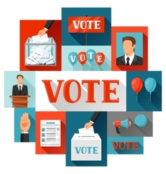Vote political elections concept for vector