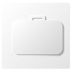 white paper suitcase vector image