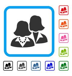 women framed icon vector image