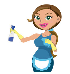 women providing house cleaning service vector image