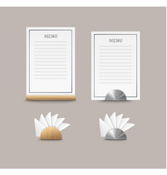 cafe menu cards vector image vector image