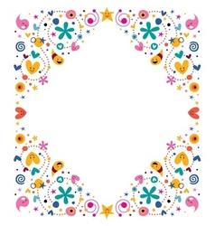 celebratory happy cartoon frame design element vector image vector image
