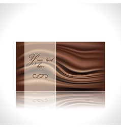 chocolate card vector image vector image