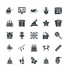 Christmas Cool Icons 4 vector image