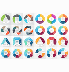 Circle arrows infographic 3 4 5 6 7 8 vector