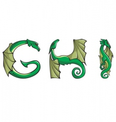 dragons Alphabet ghi vector image vector image
