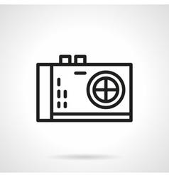 Photo camera black line design icon vector image
