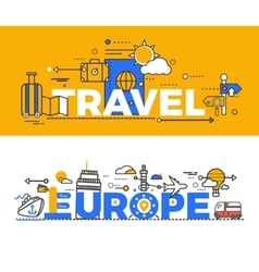 Travel Europe Design Flat Concept vector image