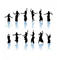 Woman dancers vector