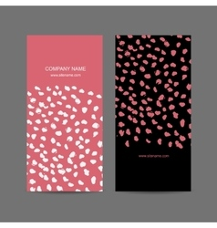 Abstract business card design vector image