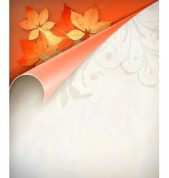 Autumn Corner Card vector image vector image