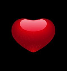 valentine heart isolated on black background vector image