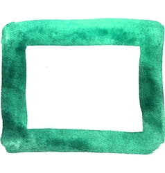 Watercolor hand paint textured frame vector