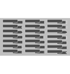 A set of ribbons vector image