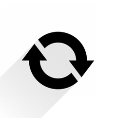 Black arrow icon reload sign on white background vector