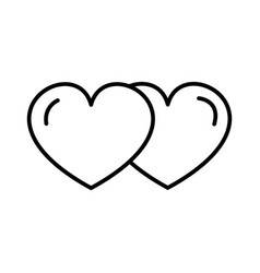 love hearts line icon sign vector image
