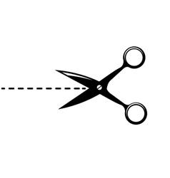 Black scissors isolated on white vector image