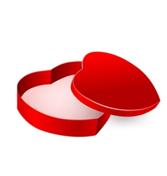 red box in heart form vector image