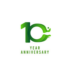 10 years anniversary flux celebration template vector