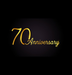 70 anniversary logo concept 70th years birthday vector image